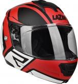 Kask motocyklowy LAZER LUGANO Z-Generation czarny/czerwony/metal/biały/matowy M