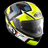 Kask Motocyklowy KYT NF-R ARTWORK żółty/szary - M