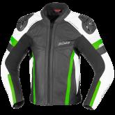 Kurtka motocyklowa skórzana BUSE Monza czarno-zielony 50