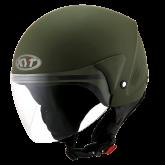 Kask Motocyklowy KYT COUGAR ARMY matowy zielony - XS