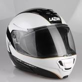 Kask motocyklowy LAZER MONACO EVO Window Pure Carbon czarny/carbon/biały/metaliczny/złoty