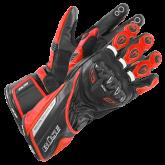 Rękawice motocyklowe BUSE Donington czarno-czerwone