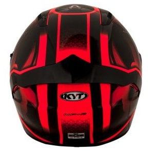 Kask motocyklowy KYT NF-R HYPER czerwony fluo