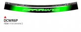 Naklejka na felgę PRINT Bubbles Perfomance zielony fluo (8 szt.)