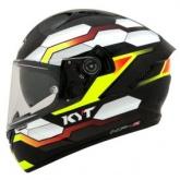 Kask motocyklowy KYT NF-R HEXAGON żółty