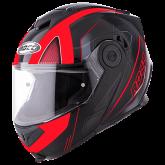 Kask motocyklowy ROCC 881 czarno-czerwony L
