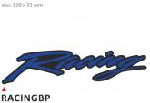 PRINT zestaw 10 naklejek Racing niebieskie