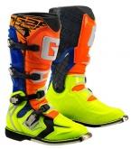 Buty motocyklowe GAERNE G-REACT GOODYEAR pomarańczowo-niebiesko-żółte 44