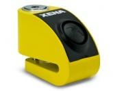 Blokada na tarczę z alarmem XZZ6 żółta - bolec 6 mm