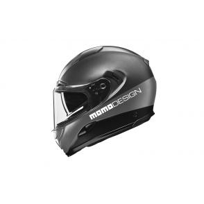 Kask Motocyklowy MOMO HORNET (Titanium Frost / Silver / Black / White) rozm. S