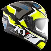 Kask Motocyklowy KYT NF-R ARTWORK żółty/szary - XS
