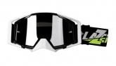 LAZER Gogle Race Style Mirror Black - White - Black kol. Mirror Silver