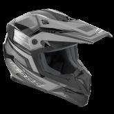 Kask motocyklowy dziecięcy ROCC 712 Jr. czarno-szary 2XS/52