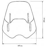 Uniwersalna szyba do motocykli bez owiewek MRA, forma VNB, przyciemniana