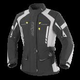 Kurtka motocyklowa damska BUSE Torino Pro czarno-jasno szara