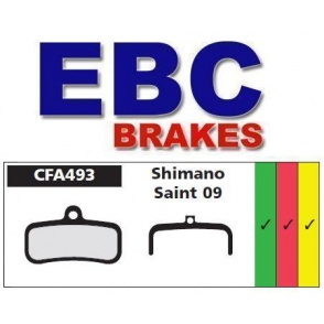 Klocki rowerowe EBC (spiekane) Shimano Saint 09 CFA493HH
