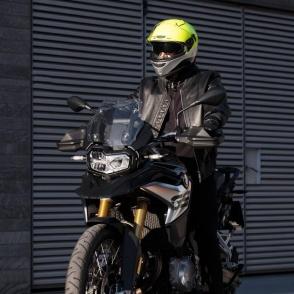 Kask Motocyklowy MOMO HORNET (Yellow Fluo / Silver / Black / White) rozm. XS