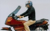 Szyba motocyklowa MRA BMW R 80 RT, BMW247, -, forma AR, bezbarwna