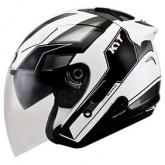 Kask motocyklowy KYT HELLCAT GXS biały/antracyt