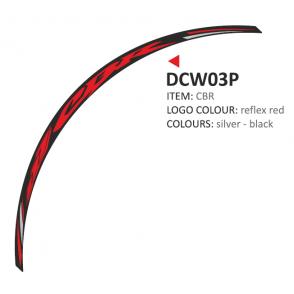 PRINT zestaw 8 naklejek na koła motocyklowe Honda CBR czerwone