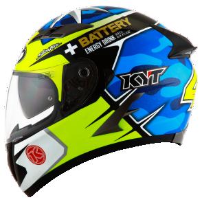 Kask motocyklowy KYT FALCON REPLICA Espargaro niebieski