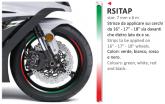 PRINT naklejka na felgę 6mt x 7mm kolor: flaga Włoska