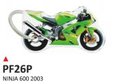 PRINT Dwustronny wypukły brelok na klucze Kawasaki Ninja 600 2003