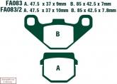 Klocki hamulcowe EBC SFA083/2 skuterowe (kpl. na 1 tarcze)