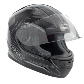 Kask motocyklowy dziecięcy ROCC 382 Jr. czarno-srebrny