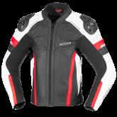 Kurtka motocyklowa skórzana BUSE Monza czarno-czerwony 50