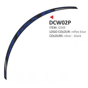 PRINT zestaw 8 naklejek na koła motocyklowe Suzuki GSXR niebieskie