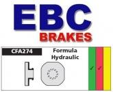 Klocki hamulcowe rowerowe EBC CFA274R FORMULA HYDRAULIC