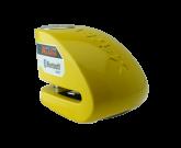 Blokada na tarczę z alarmem i bluetooth XX10 żółta - bolec 10 mm