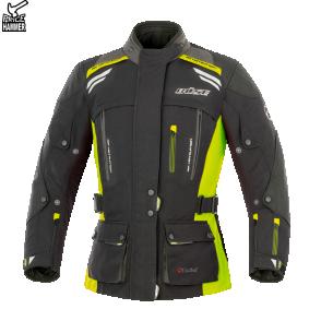 Kurtka motocyklowa damska BUSE Highland czarno-neonowa