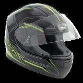 Kask motocyklowy dziecięcy ROCC 382 Jr. czarno-neonowy