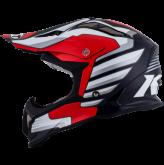 Kask motocyklowy KYT STRIKE EAGLE WINGS biało-czerwony