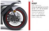 PRINT naklejka na felgi 6mt x 7mm reflex czerwone