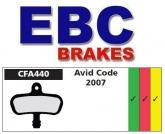 Klocki rowerowe EBC AVID CODE CFA440 (1 kpl.)
