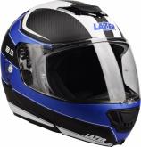 Kask motocyklowy LAZER MONACO EVO 2.0 czarny/carbon/niebieski/