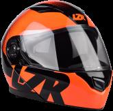 Kask motocyklowy LAZER MH2 Visible czarny/czerwony fluo