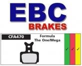 Klocki rowerowe EBC (organiczne wyczynowe) Formula One & Mega CFA470R