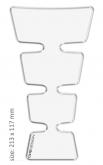 PRINT tankpad  universal GOLD shape przeźroczysty
