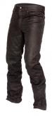 Spodnie jeansowe skórzane LOOKWELL ROXY czarne