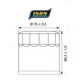 Filtr Oleju ISON 551 (HF551)
