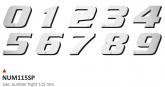 PRINT zestaw 10 naklejek (cyfry) w kolorze srebrnym