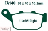 Klocki hamulcowe EBC SFA140 skuterowe (kpl. na 1 tarcze)