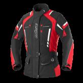 Kurtka motocyklowa damska BUSE Torino Pro czarno-czerwona