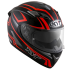Kask Motocyklowy KYT FALCON 2 ESSENTIAL czerwony fluo - XS