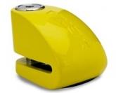 Blokada na tarczę z alarmem XX10 żółta - bolec 10 mm