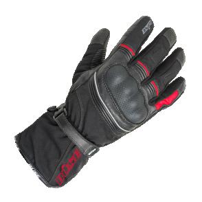 Rękawice motocyklowe BUSE Toursport czarno-czerwone